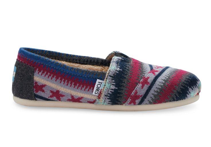 Veelkleurig Classics voor dames van tricot met imitatie schapenvacht, veelkleurig
