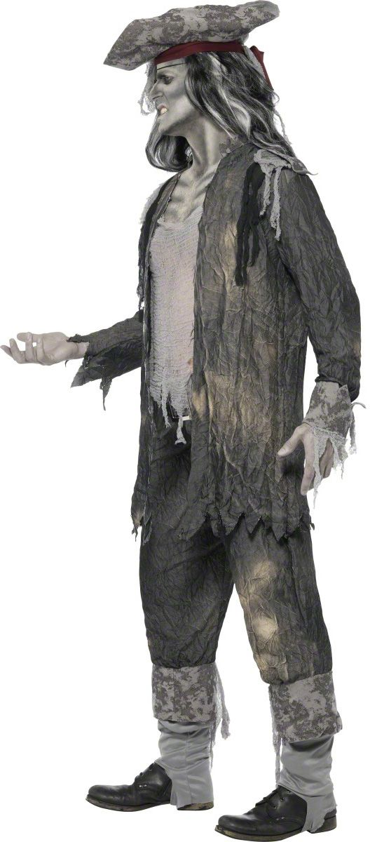 ghost pirate costume men   Main - Adults Costumes - Ghost pirate costume for men Halloween