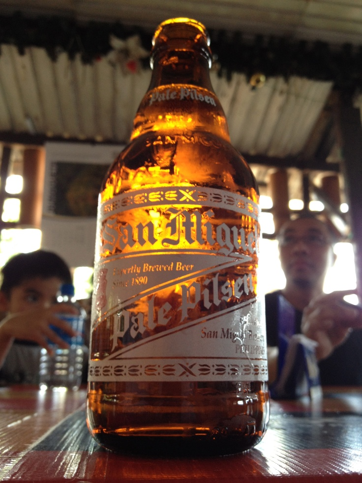 San Miguel Beer - First beer after we touched down. Tacloban, Leyte, Philippines JAN2012