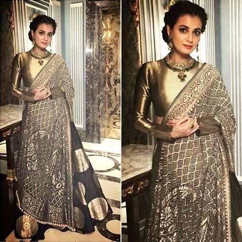 Dia Mirza Etched The Most Perfect Indian Look Wearing Manish Malhotra At A…
