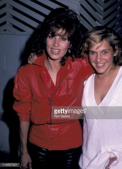 Stefanie Powers and niece Amy Sarstedt during Stefanie Powers Birthday Party at Spago's Restaurant in Hollywood October 8 1985 at Spago's Restaurant...