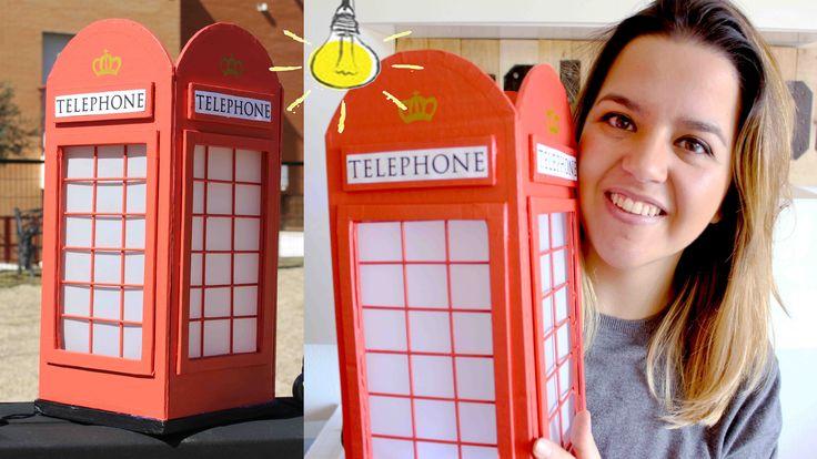 DIY Cabina Telefónica Londres!! LÁMPARA DE CARTÓN!!- Mery