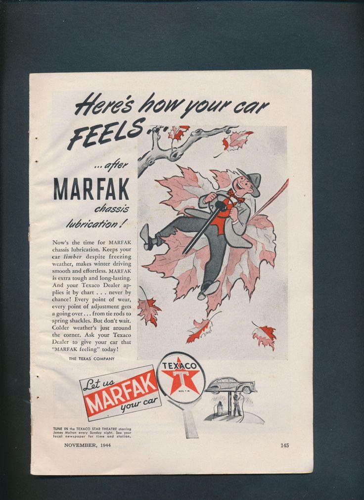 the latest addition to my #etsy shop: authentic Texaco Marfak ad vintage 1944 http://etsy.me/2EzXKtn #vintage #collectibles #black #red #epsteam #paperephemera #vintagead #oldadvertisement #collectiblepaper