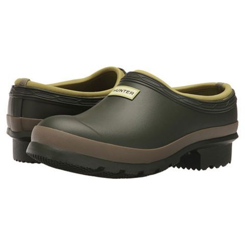 $95 BUY NOW  From the rain boot aficionados at Hunter,these garden clogs are constructed of waterproof rubberwith treaded soles for a non-slip grip. Their warm cloth lining eliminates the need to wear socks while working out in a muddy yard.  More:The Best Outdoor Fire Pits to Keep Warm Outdoors on Crisp Nights