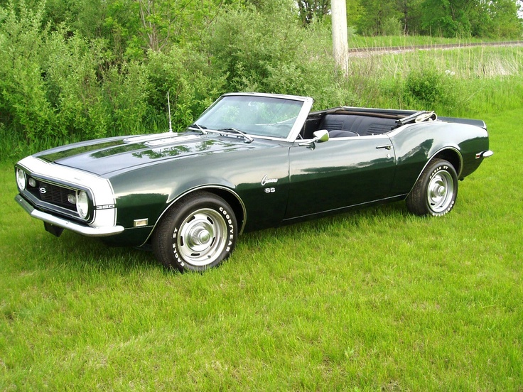 """1968 Chevrolet Camaro SS ~ This is my dream car...cept' hard top and black on black ~..""""come to momma"""" <3"""