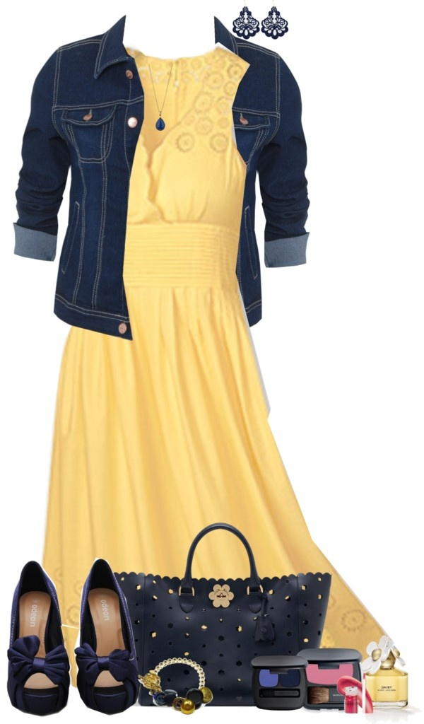 """Yellow Sundress"" by lmm2nd  on Polyvore"