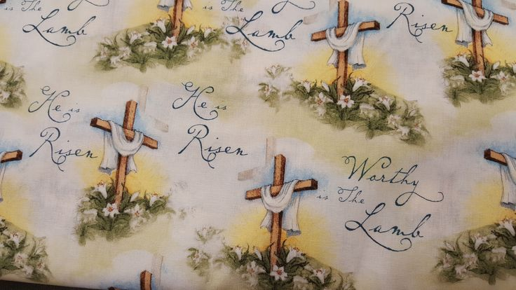 """Worthy is the Lamb Steele Creek Studio for Springs Creative Fabric End of Bolt 1 Yard 9"""" by LaCreekBlue on Etsy"""