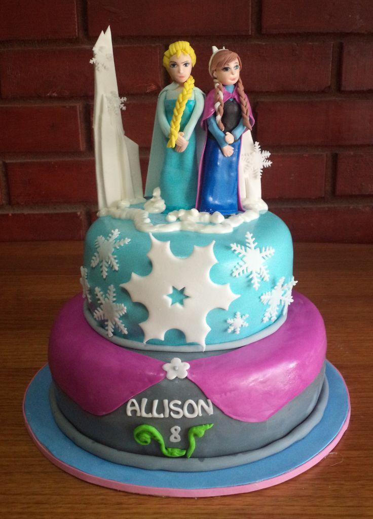 #Frozen #Ana #Elsa #fondant #cake creada por Volovan Productos Punta Arenas Chile @volovanp