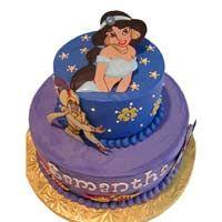 Aladdin and Jasmine Theme Cake