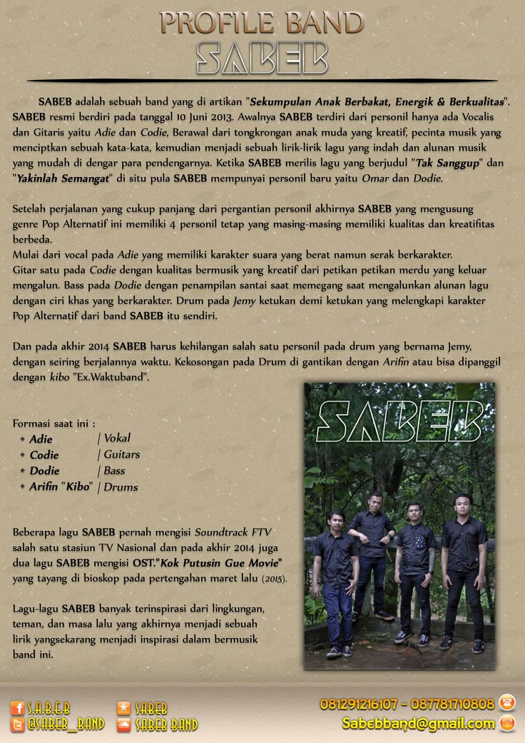 Profile S.A.B.E.B | Band Contact: Call/Txt : 081291216107 - 087781710808 Email : Sabebband@gmail.com