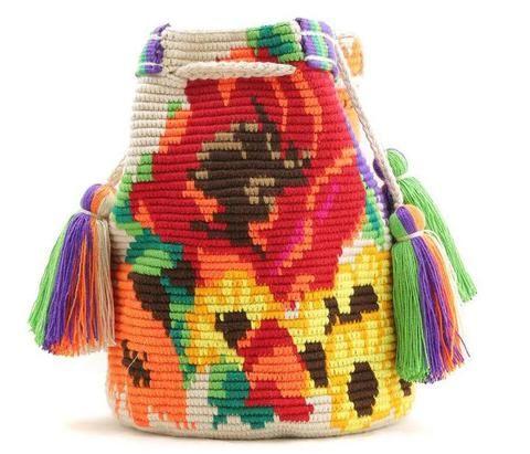 Wayuu Mochila Bag flowers
