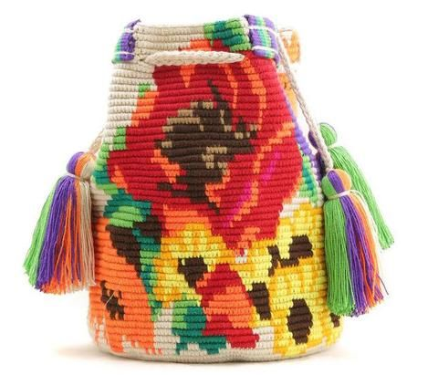 Wayuu Mochila Bag flowers
