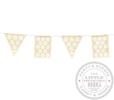 Paper Vintage Collection Lace Cut Pennant Banner