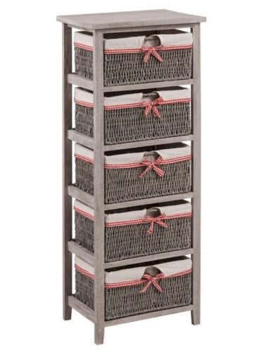 Grey-Wooden-Storage-Unit-Cotswold-2-3-4-5-Woven-Baskets-With-Fabric-Liner