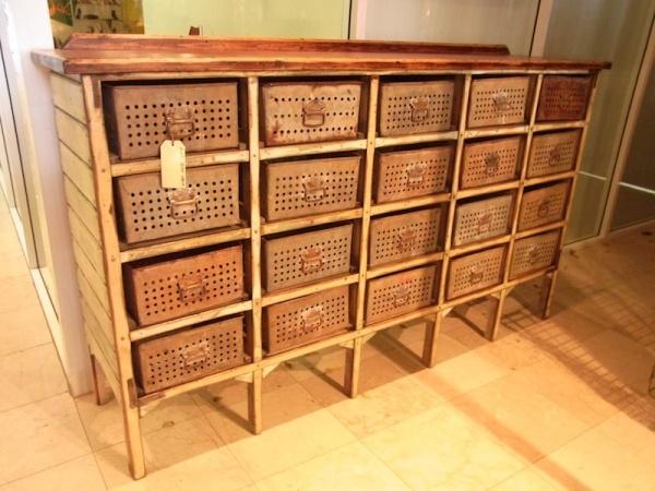 Industrial furniture drawers storage