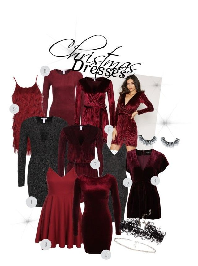 """Christmas dresses"" by amandablomqvist on Polyvore featuring NLY Trend, Glamorous, New Look, Sisters Point and NLY Accessories"