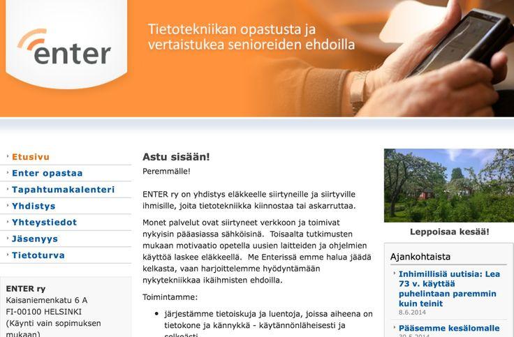 ENTER ry on yhdistys eläkkeelle siirtyneille ja siirtyville ihmisille, joita tietotekniikka kiinnostaa tai askarruttaa.