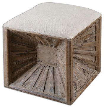 Jia Wooden Ottoman - traditional - ottomans and cubes - Fratantoni Lifestyles
