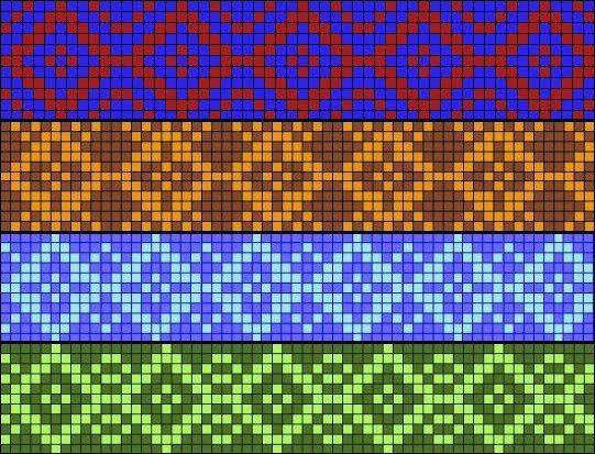 Тканые браслеты из бисера схемы