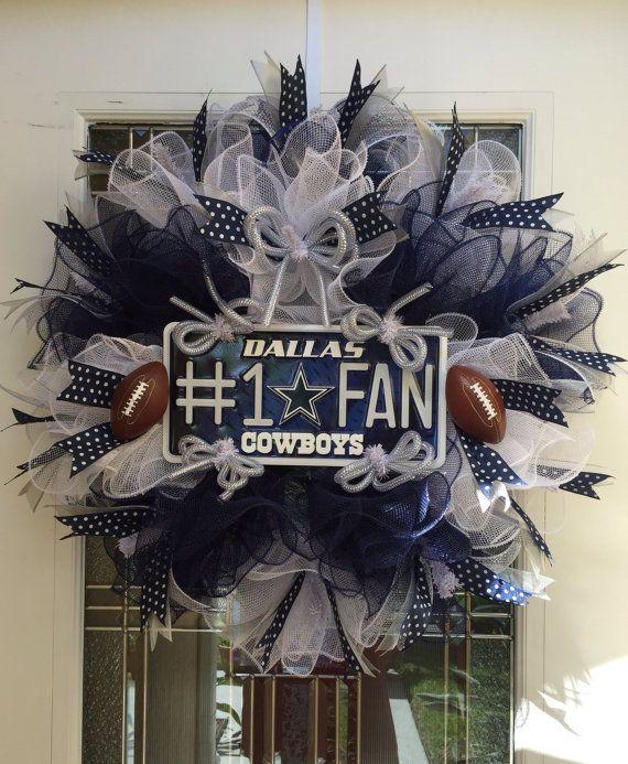SOLD Dallas Cowboys NFL Deco Mesh Wreath by DECObyZINK on Etsy