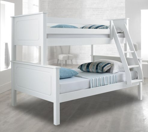Happy Beds Vancouver 4ft Wood Bunk Bed Triple Sleeper 2x Orthopaedic Mattress