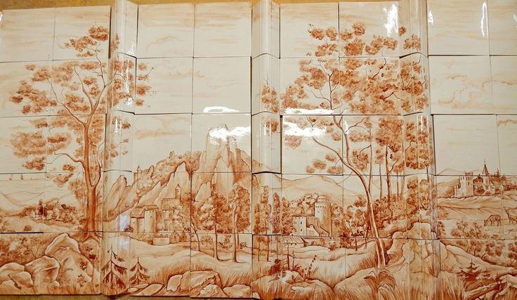 """Керамическое панно """"Старинная гравюра"""" #панно #керамика #дизайнинтерьера #гравюра"""