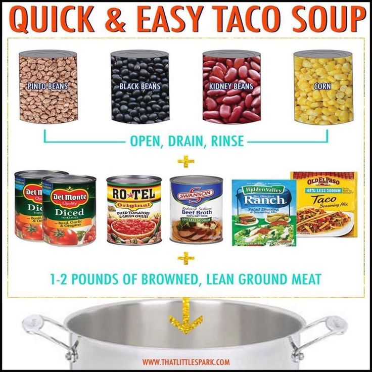 Easy Taco Soup Recipes Soups Pinterest Soups Easy Taco Soup And Taco Soup