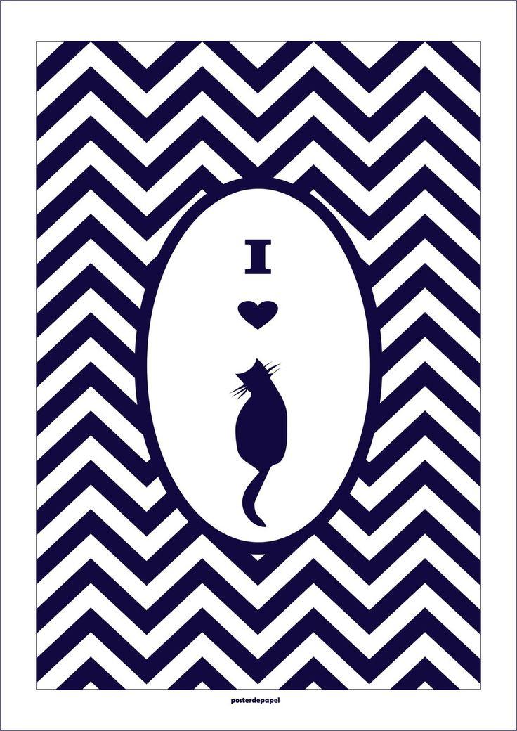 Poster Cat   Poster de Papel   Elo7