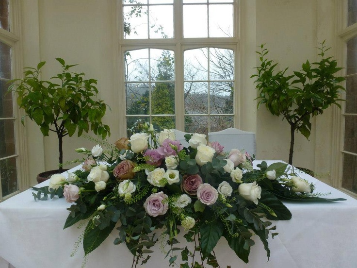 Gorgeous Top Table Flower Display