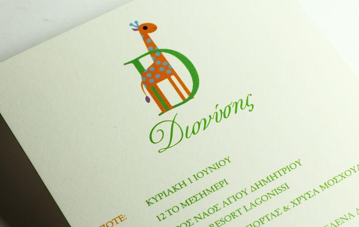 Tailor made / Christening invitations / Type Center