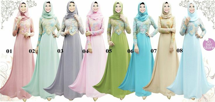 Gamis/Jubah by In Her Store Indonesia – Dahma Series Material : Chiffon Cerutti & Panel Lace Size : S – M – L – XL Retail Price : Rp 425rb/pc Reseler Price : Rp 400rb/pc (min.3pcs, mix size & colours allowed) PIN : 56EC4B97 Line : inherstore