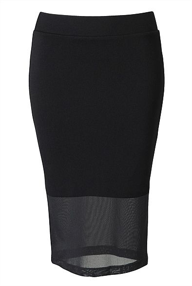 Overlay Mesh Pencil Skirt. I am still yet to own a gorgeous pencil skirt like this one! Adding this to my list for sure :) #witcherywishlist