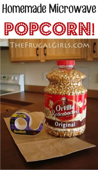 How to Make Homemade Microwave Popcorn!  {this is SO easy, tastes delicious, and is a great $$-saver, too!} #recipes #thefrugalgirls