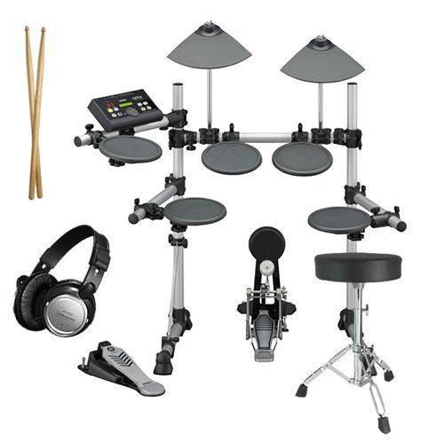 Yamaha DTX500K Electronic Drum Set ESSENTIALS BUNDLE w/ Extra Hardware by Yamaha. $599.99. Yamaha Electronic Drum Set BUNDLE including the Yamaha DTX500K Electronic Drum Set, Drum Throne, Bass Drum Pedal, Stereo Headphones, and Drum Sticks. The pads on the Yamaha's DTX500K kit feature a traditional rubber surface for the snare and toms, and provide good stick rebound without being too bouncy. Two cymbals, a hi-hat pad and pedal controller, and a kick pad that ...