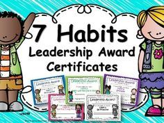 Do you use The 7 Habits of Happy Kids (or The Leader in Me) in your school or classroom? You'll love these award certificates which are the perfect way to recognize students as they model the habits throughout the year. Each certificate includes a space for student name and includes the habit number/description, a place to write how the student modeled the habit, and a signature/date line.