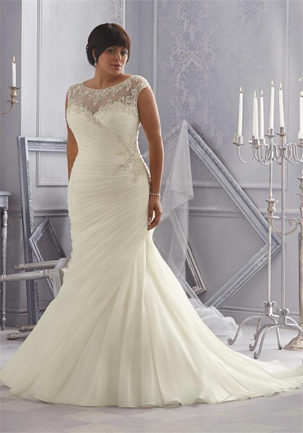 31fae52ef5db5 Sexy White Ivory Plus Size Wedding Dress Gown Custom Size 16 18 20 22 24 26  28 +