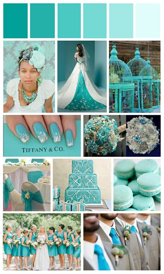 Designcat Weddings Colour Board - Turquoise