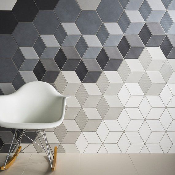 Johnson Tiles — Absolute Collection — Avoir  Create statement surfaces with the Avoir glazed porcelain wall and floor tiles, now available for the first time as hexagons with accompanying hexagonal décor fittings. Available in six sizes, including mosaics, Avoir is a stand-out collection enhanced by its choice of five soft-toned shades. From the barely-there Bone shade to the muted greys of Cement and Smoke, Avoir has a Natural finish for maximum versatility and creativity.