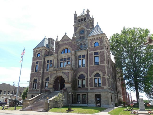 perry county courthouse new lexington ohio constructed
