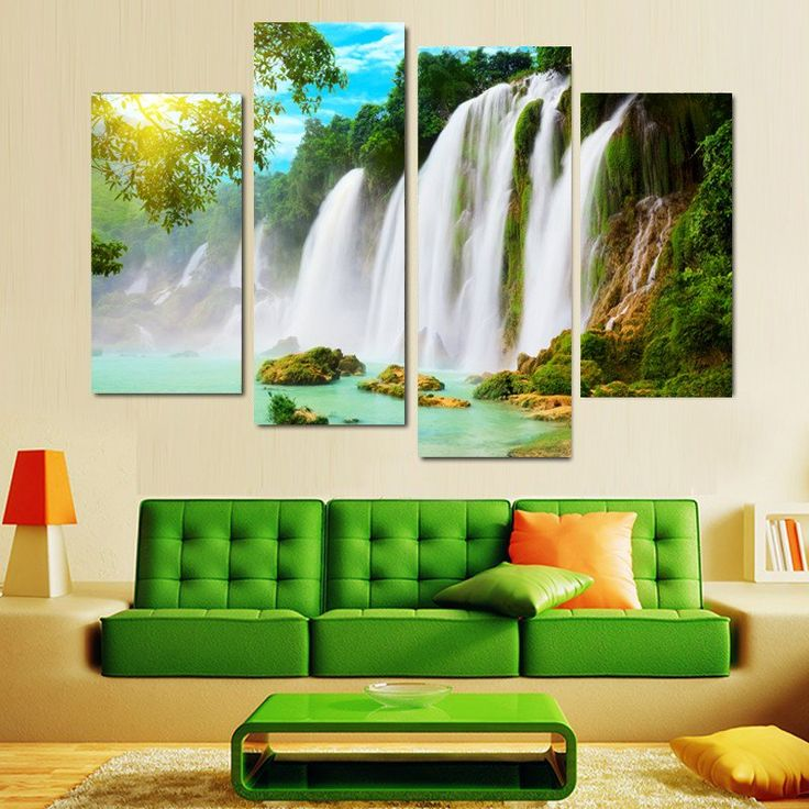 Waterfall Wall Picture For Living Room Canvas Prints With Different Sizes At Competitive Price