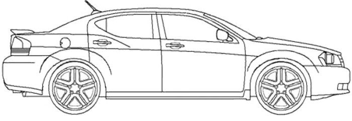 dodge dart coloring pages