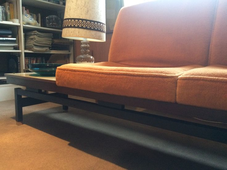 1960s occasional chairs Orange and interchangeable coffee table vintage authentic