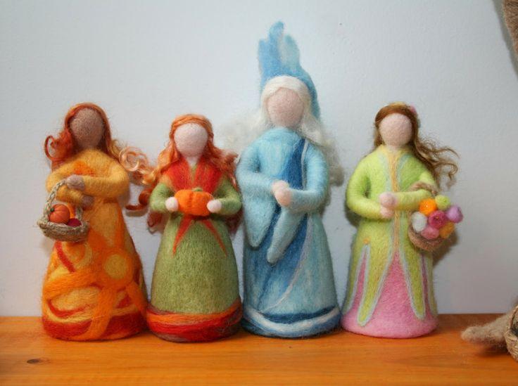 Needle Felted Seasons's Dolls.....my original designs