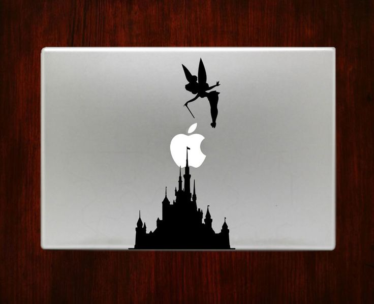 Tinker Bell and Disney Castle Decal Sticker For Macbook 13 15 inch Pro Air #RusticDecal
