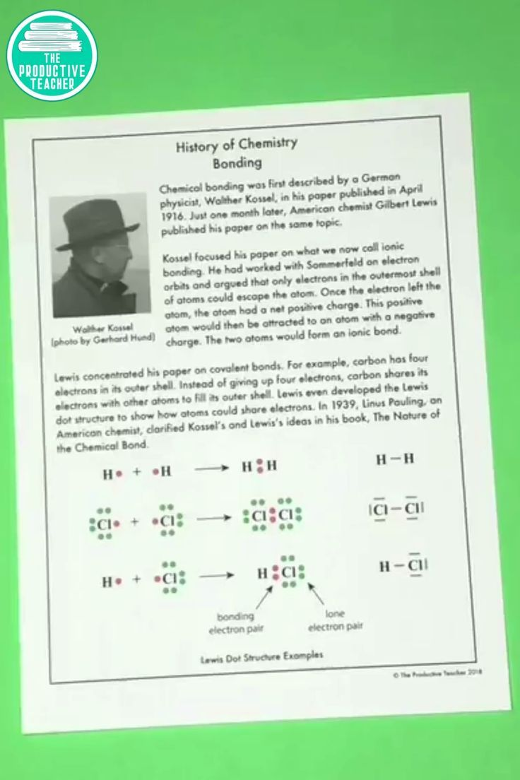 Introduction To Chemistry Bonding Reading Passage Teaching Chemistry Reading Passages Chemistry