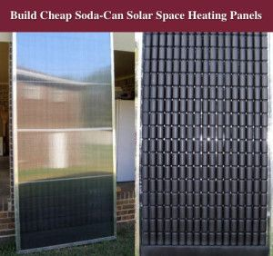 Build A Cheap Soda-Can Solar Space Heating Panels