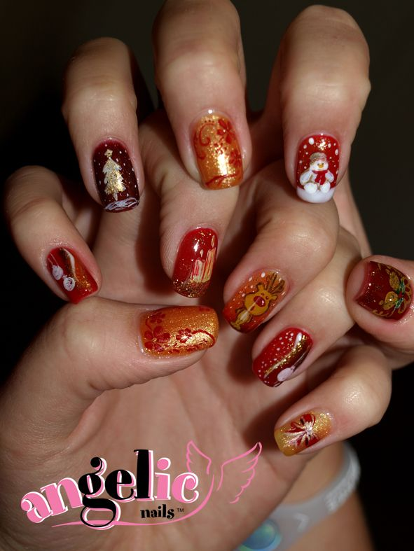 Christmas Nail Art Ideas #Christmas #nails #nailart #gelnails