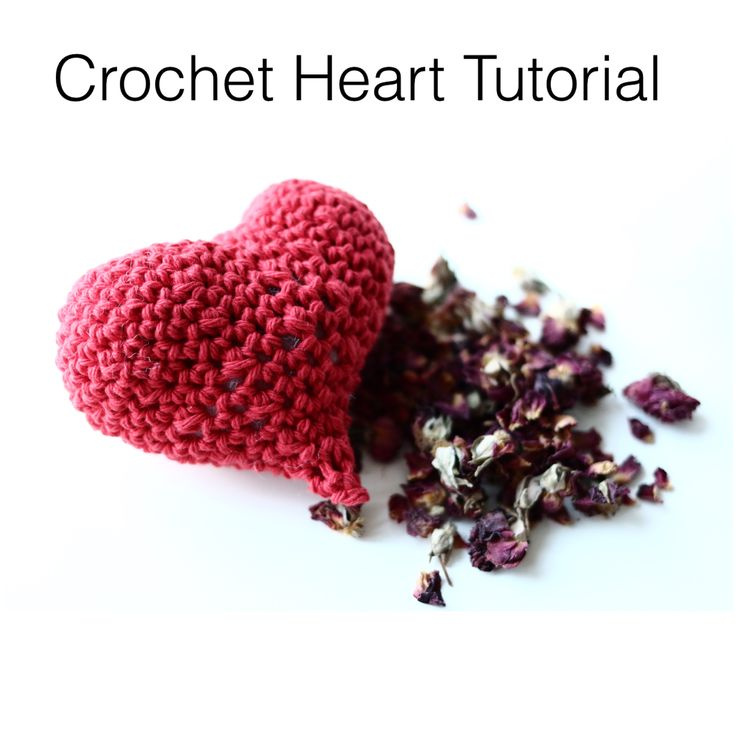 Crochet Heart Rose Petals Sachet Free Video Tutorial By AnnooCrochet Designs