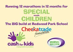 Redwood Park School and wwwCheckatrade.com charity marathon