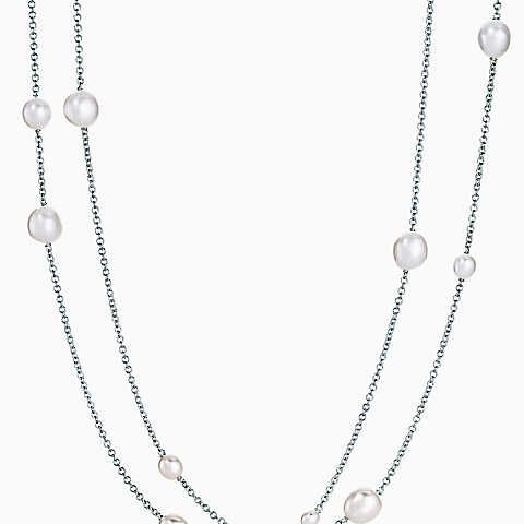 6ff5390f6 Elsa Peretti® Pearls by the Yard™ sprinkle necklace in sterling silver. | Elsa  Peretti | Elsa peretti, Tiffany necklace, Jewelry